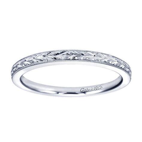 14kt white gold s engraved wedding ring gabriel wb7222 freedman jewelers boston