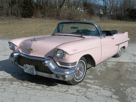 Pink Convertible Car For Sale by 1957 Cadillac Pink Convertible For Sale