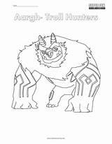 Troll Hunters Coloring Hunter Printable Netflix Template Arrgh Getcolorings Colori sketch template