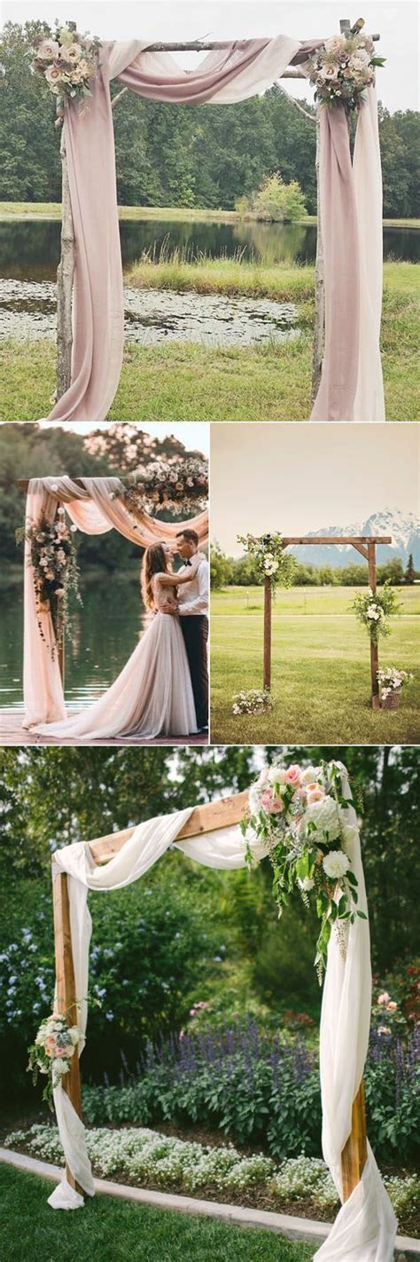 simple outdoor wedding decorations rustic wedding alter