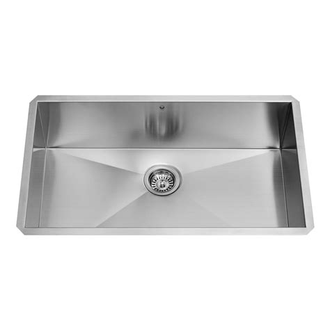 vigo undermount stainless steel kitchen sink vigo undermount 30 in single bowl kitchen sink in 9577
