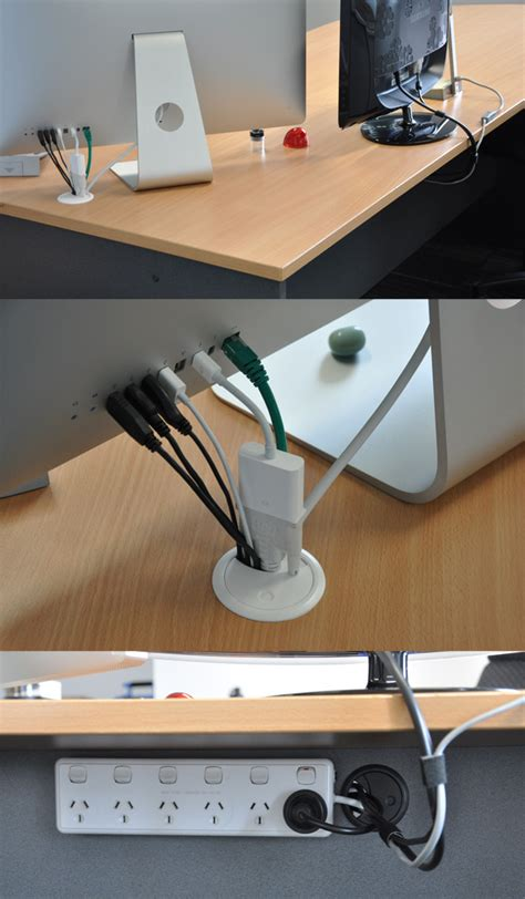 computer desk with built in cable management simple cord management solutions that can make life easier