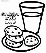 Cookies Coloring Pages Milk Popular Colorings sketch template