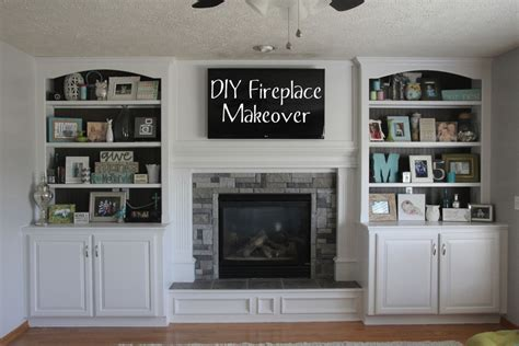 diy fireplace update with built in shelves on each electrical for built ins and fireplace insert home
