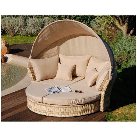 divano da giardino divano letto da esterno rotondo kyoto in polyrattan con