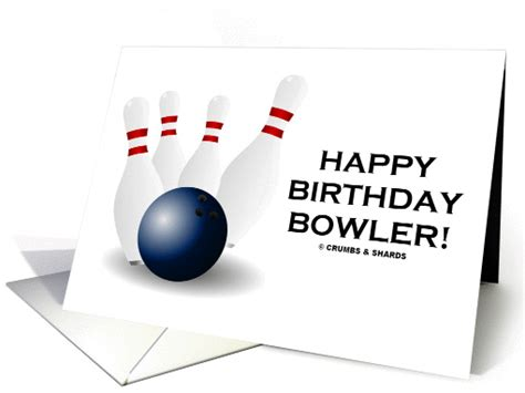 The Happy Bowl happy birthday bowler bowling four tenpins pins card