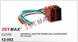 Jstmax Universal Female Iso Radio Wire Wiring Harness