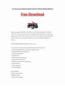 Yamaha Grizzly 660 Atv Service Repair Manual By Kevinlee
