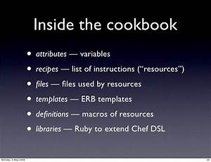 running the show configuration management with chef With chef template variables