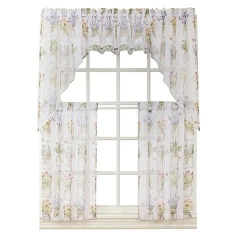 kitchen curtains valances target eves garden kitchen valance white 54 quot x 14 quot target