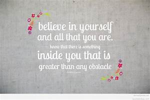 Believe in yourself quote on success