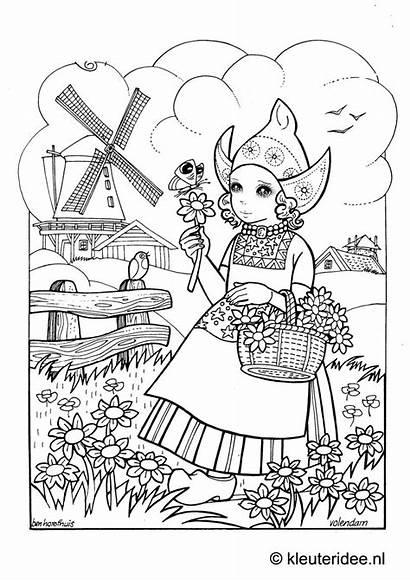 Holland Coloring Kleurplaten Dutch Nederland Sheets Kleuren