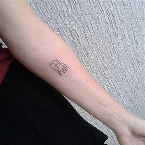 badass feminist tattoos  remind   girl power
