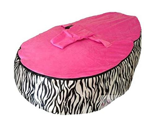 Lcy Baby Bean Bag Chair Zebra Print Pink-unfilled