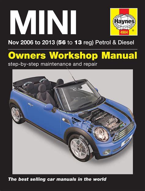 old cars and repair manuals free 2009 bmw m6 electronic valve timing haynes manual bmw mini 2006 2013 car workshop repair book maintenance 4904 new ebay