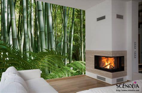 cuisine asiatique simple papier peint tapisserie japonaise bambou et nature