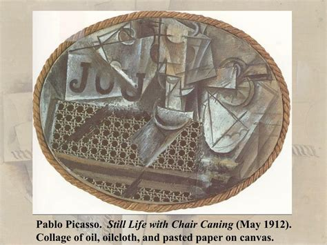 Picasso Still Chair With Caning Collage by Ppt Picasso And Braque Synthetic Cubism Powerpoint