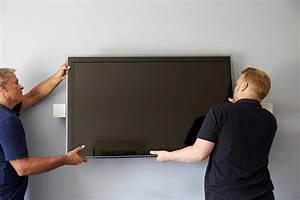 Fixer Une Télé Au Mur : accrocher une tv au mur ~ Premium-room.com Idées de Décoration
