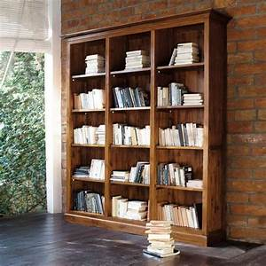 Stained Solid Teak Bookcase