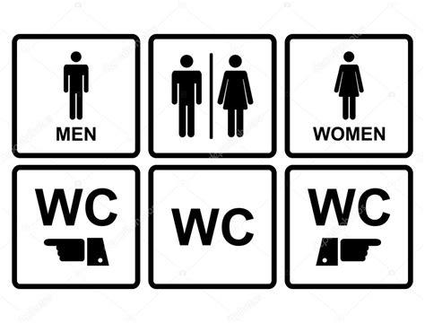 toilette masculin ou feminin ic 244 ne de wc masculin et f 233 minin qui d 233 note des toilettes et toilettes image vectorielle 55102823