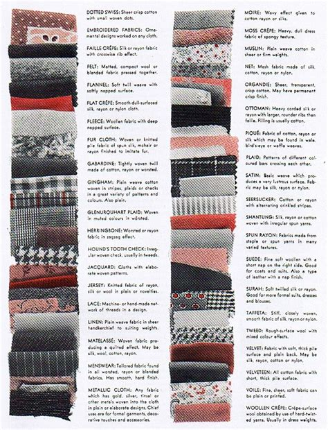 fabric types types of fabric fabric love pinterest what s the stitches and types of