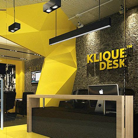 Yellow Office Desk by 60 Spaces Where Yellow Colour Makes The