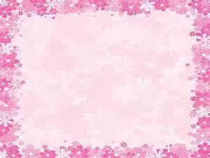 pink floral borders | Pink floral frames PPT Backgrounds ...