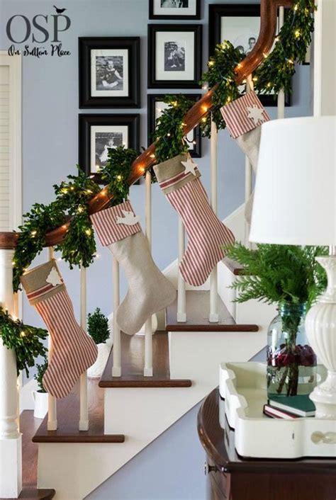 festive christmas banister decorations ideas