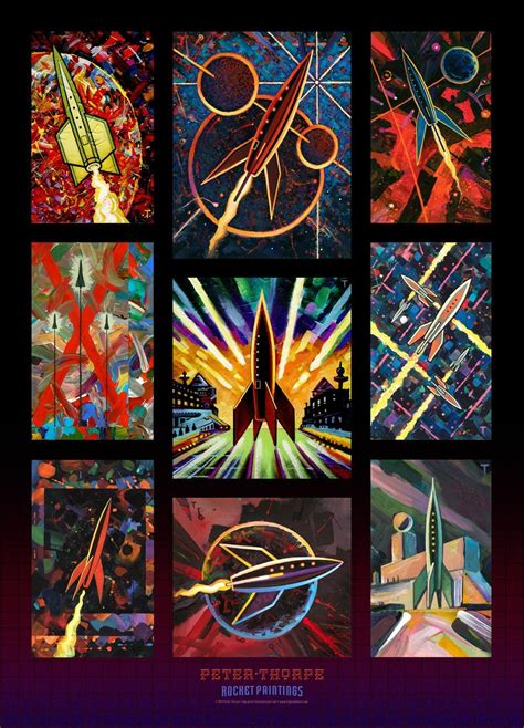Here Is A New Rocket Paintings Poster That I've Done For My [peter Thorpe's] Rocketzoom Store On