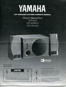 Vintage Yamaha Owners Manual   U0026quot Yst Speaker Systems U0026quot  Models Yst