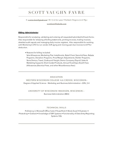 resume script for business administration business administration resume