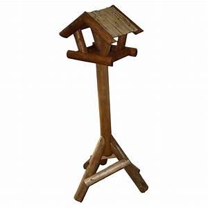 Mangeoire Oiseaux Sur Pied : mangeoire oiseaux sur pied avec toit en paille naturelle 34 60 ~ Teatrodelosmanantiales.com Idées de Décoration