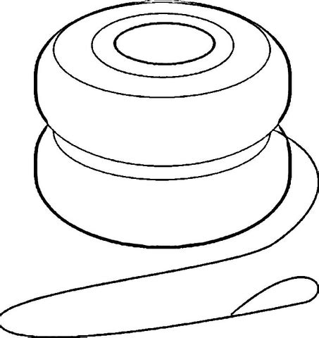 yoyo coloring page  printable coloring pages