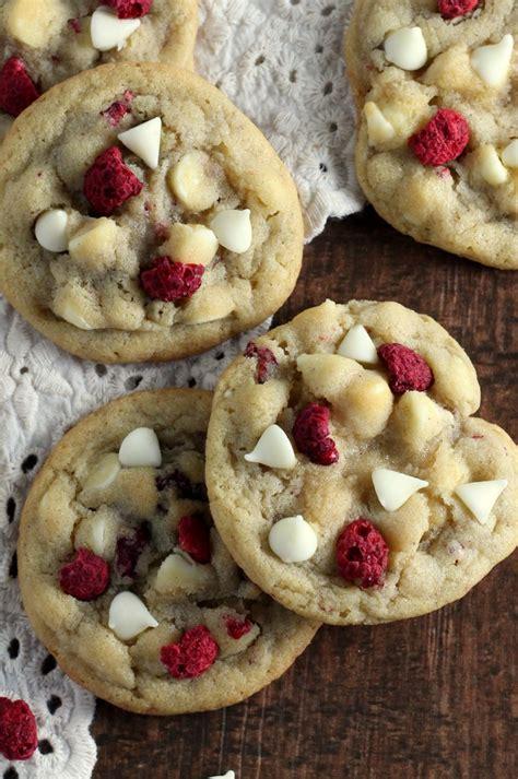white chocolate raspberry cookies chocolate  grace