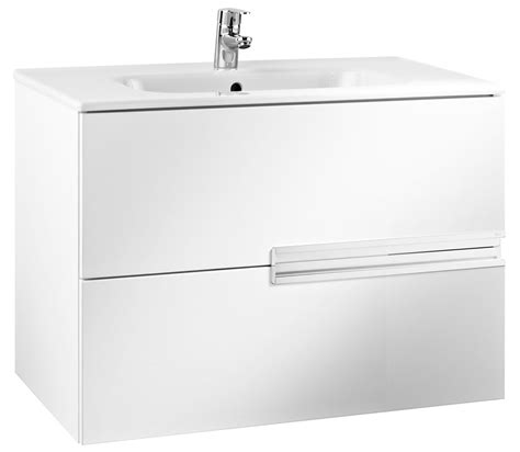 roca n unik basin and unit with 2 drawers 800mm white