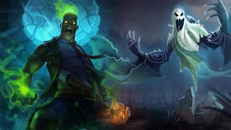 league  legends skins  halloween