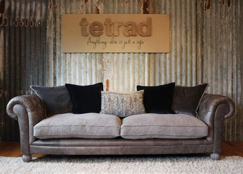 leather and fabric sofa mix tetrad mixed leather and fabric sofas chairs pinterest