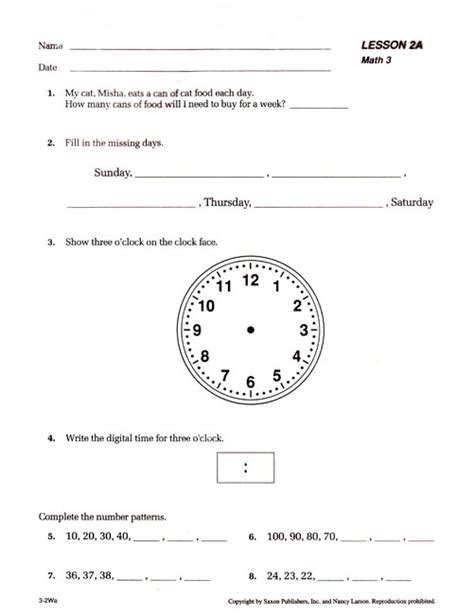 Preview Saxon Math 3 Teacher's Manual  Seton Educational Media