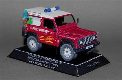 This Vehicle Paper Model Is A French Fire Department Land