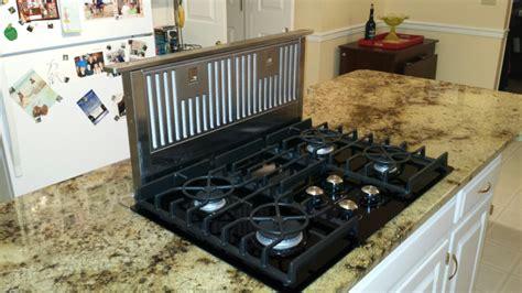 Kitchen Island Cooktop Granite Kitchen Island Countertop With Gas Glass Cooktop Jimhicks Yorktown Virginia