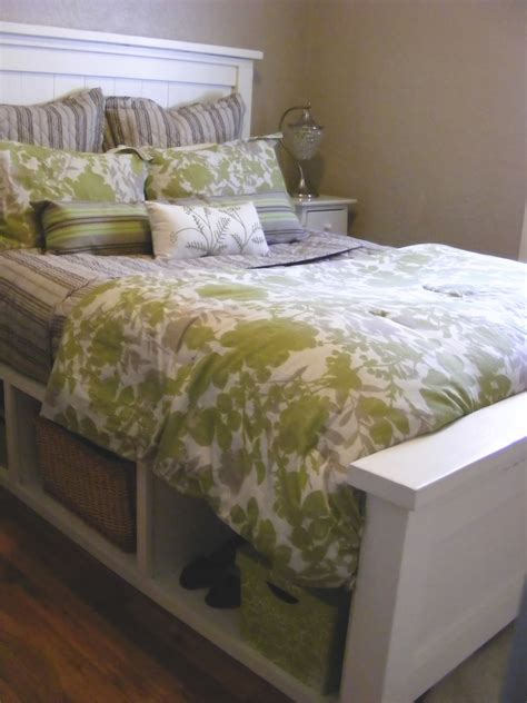 How To Make A Bed Frame With Headboard And Footboard by White Farmhouse Storage Bed With Hinged Footboard