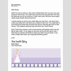 Printable Tooth Fairy Letter — Your New Fairy