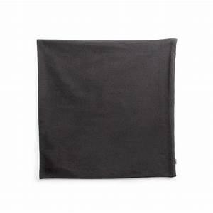 Kissenhülle Mit Reißverschluss Nähen : kissenh lle aus baumwolle mit rei verschluss 40x40 cm schwarz perles co ~ Yasmunasinghe.com Haus und Dekorationen