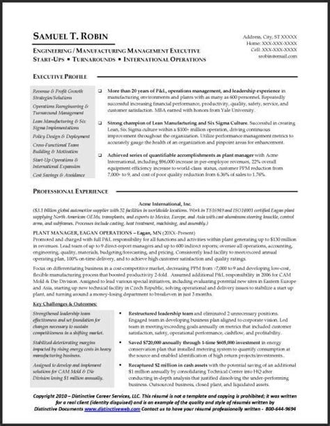 Free Resume For Manufacturing by 10 Manufacturing Resume Templates Free Pdf Word Sles