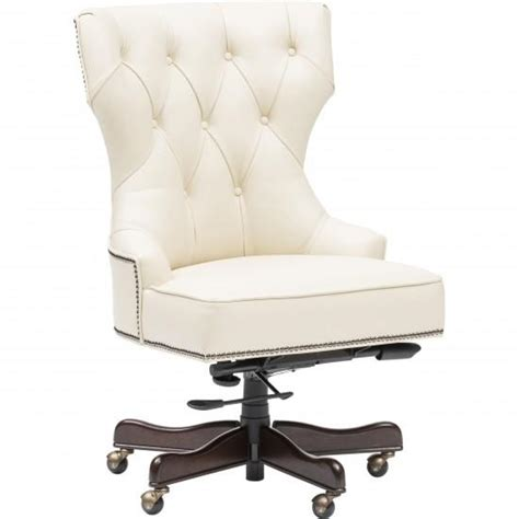 white tufted office chair executive tufted ivory leather chair