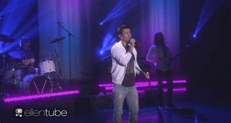 maroon 5 ellen show maroon 5 performs new single quot cold quot on quot ellen degeneres