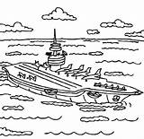 Carrier Coloring Aircraft Pages Sea Ship Coloringsky Template Navy Colouring Pure Books sketch template