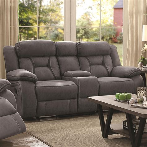 Coaster Loveseat by Coaster Houston Casual Pillow Padded Reclining Loveseat