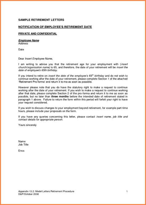 employer notice letter  employee notice letter