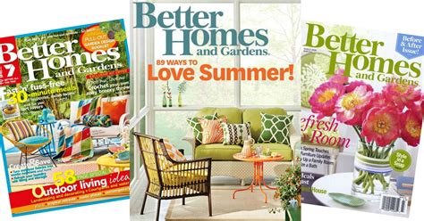 Better Homes And Gardens by Free Better Homes And Gardens 1 Year Magazine Subscription